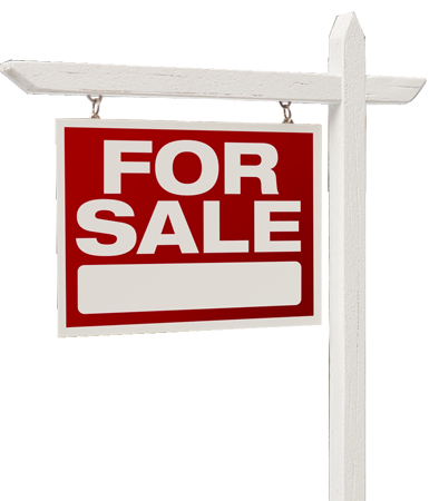 For sale sign - home buyer inspection